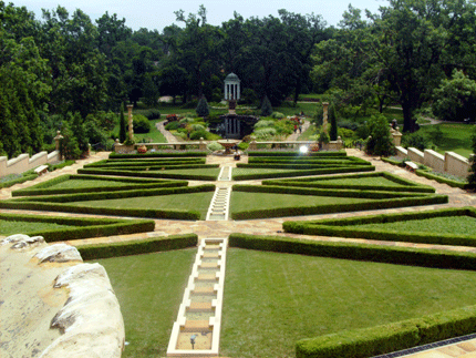 the main garden at the museum.